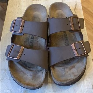 Birkenstock Arizona brown leather EUC size 40